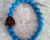 Turquoise Gemstone Buddha Head Bracelet
