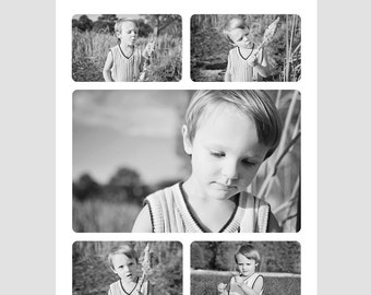 Set of Eight 8x10 Photography Storyboard Templates with Rounded Corners