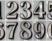 4 x Silver Transom or Fanlight House Numbers