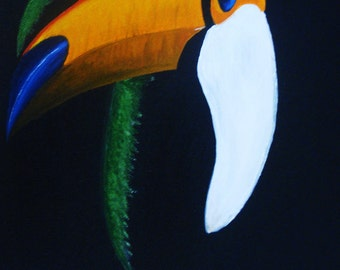 Toucan Tropical Bird Original Painting - Last day at this SALE price