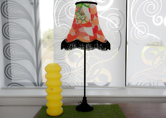 Classic Silk Lampshade - The Wind Of A Thousand Folding Fans Shook Off The Apples I - Kimono Lamps by Anna Juraszek