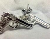 Little Automatic Hand Gun Ear Studs