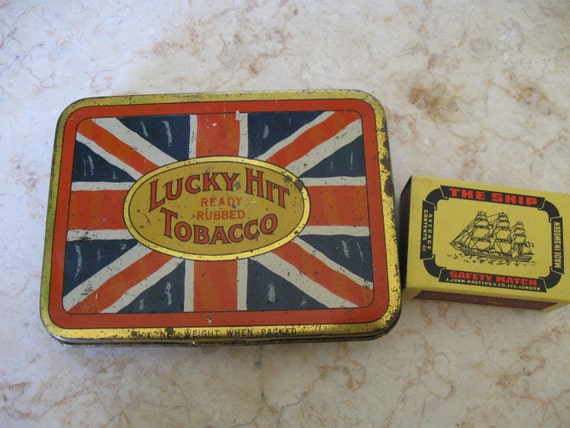Lucky Hit Union Jack tobacco tin