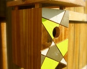 Modern birdhome. Original design by chürp - modern birdhomes. Made to order.