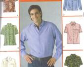 Mans Pattern Shirts Sizes Xl- XXXl McCalls M4399