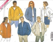 Unisex Jacket pattern with Hood variations Butterick 5811 size LG and XL