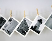 Handmade Greeting Cards in Black and White - Set of 5 Greeting Cards - For Her - Gift