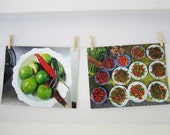 Travel Food Photography Green and Red Chilies Large Kitchen Wall Art