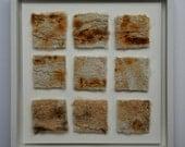 Box framed 'shifting sands' textile artwork