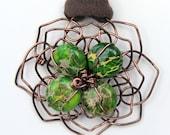 Green Jasper Flower Pendant - 2012 Golden Globes