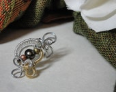 Wire Wrapped Earcuff- Summer Moon
