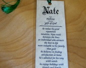 Personalized Bookmarks with First Name Meaning