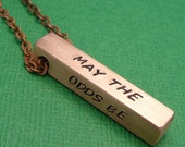Personalized CUSTOM Hand Stamped Copper Bar Necklace