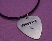 Songbird - A Hand Stamped Aluminum Guitar Pick Necklace