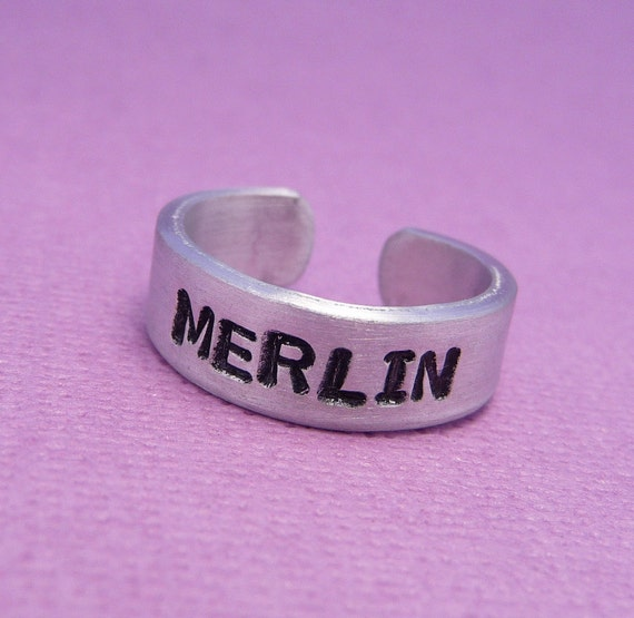 Merlin Inspired - Merlin - A Hand Stamped Aluminum Ring