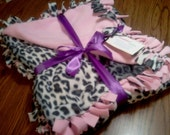 Leopard & Pink Blanket 2 yards