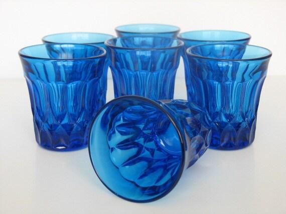 Reserved for Renee - Noritake Perspective Blue Crystal Juice Glasses