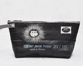 """Eco-friendly bag made from recycled bike inner tubes - """"Fireworks"""""""