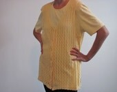 SALE  yellow vintage top  size S made by Steven Ross