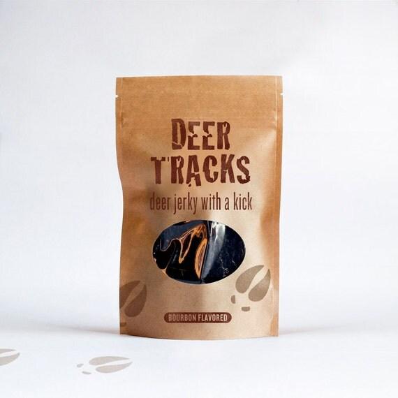 Deer Tracks Bourbon Flavored Jerky 4 oz. Resealable Bag