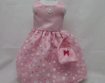Pink Daisy Formal Dress  for 18 inch doll like the American Girl.