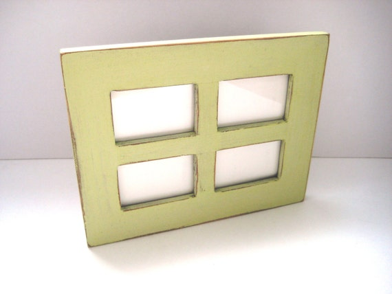 Mint Green Photo Frame - Window Picture Frame - Pastel Shabby Chic