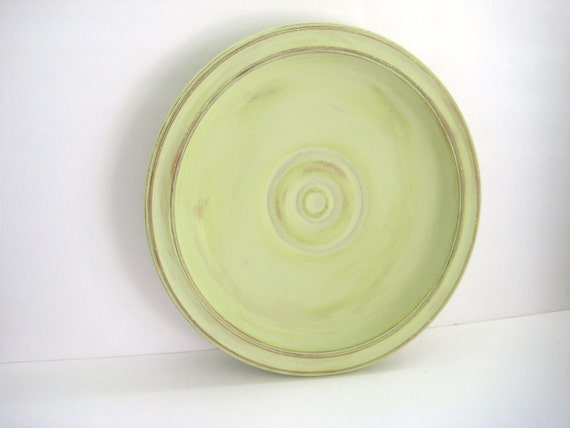 Large Mint Green Bowl - Upcycled - Centerpiece - Rustic Kitchen Decor