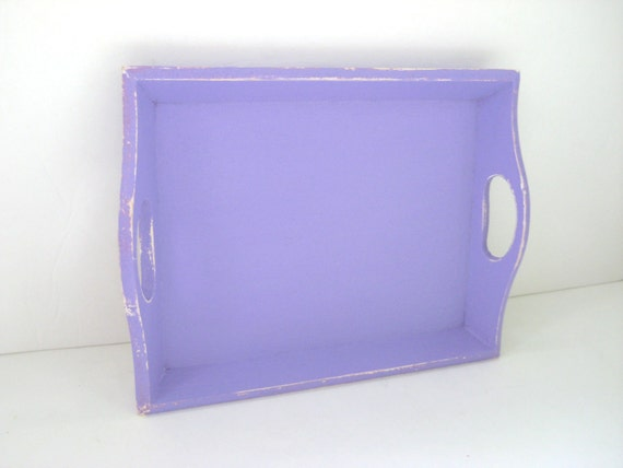 Pretty Purple Tray - Shabby Chic Distressed - Organization