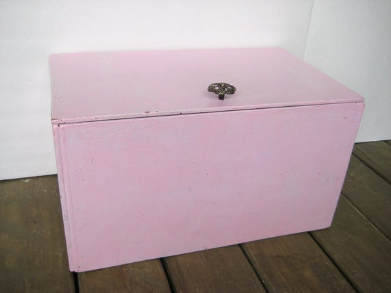 Rustic Pink Chest - Upcycled Shabby Chic - Large Storage Box