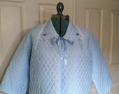 Pale Blue Pretty.. 1950s Nanette Bed Jacket - Vintage Size S