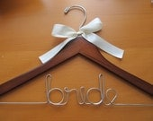 "Wedding ""bride"" hanger"