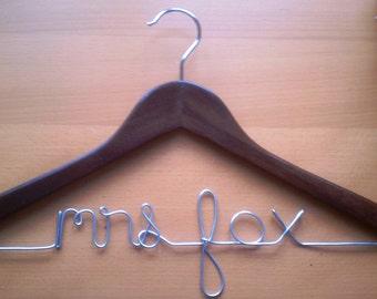 Wedding Hanger - Bridal Hanger - Personalized Hanger