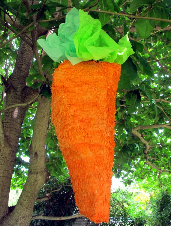 Giant carrot pinata or decoration perfect for a peter rabbit for Decoration pinata