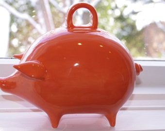 Orange Piggy Bank  Available in 9 colors