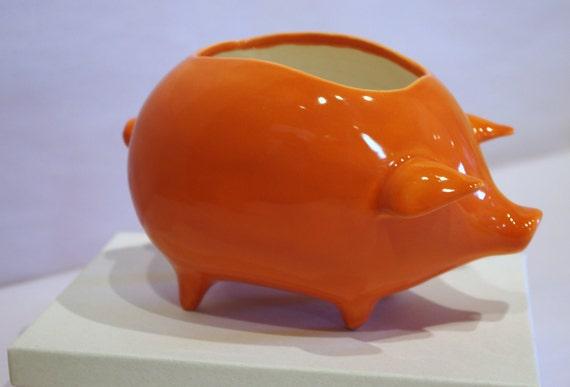 Piggy Planter in Vintage Design