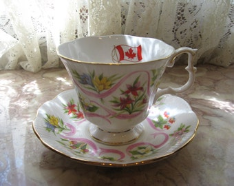 "Royal Albert  ""Canada"" Cup & Saucer"
