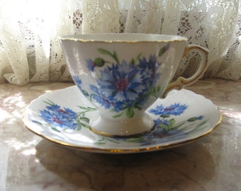 Hammersley and Co. Blue & White Cup and Saucer