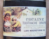 Cocaine Toothache flask- FREE SHIPPING