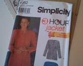 1994 Simplicity Jacket with optional lining Sewing Pattern No. 9082 (size 16, 18, 20, 22)