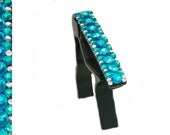 Fancy Rhinestone Bedazzled Guitar Capo - Tropical Turquoise