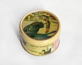 Vintage bullfighting Tin box cream color candy milk coffee Spain