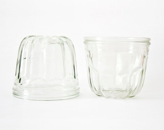 Vintage Clear Glass Jello Mold or Pudding Mold Kitchen