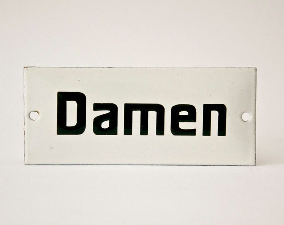 Vintage Bathroom sing Damen Germany