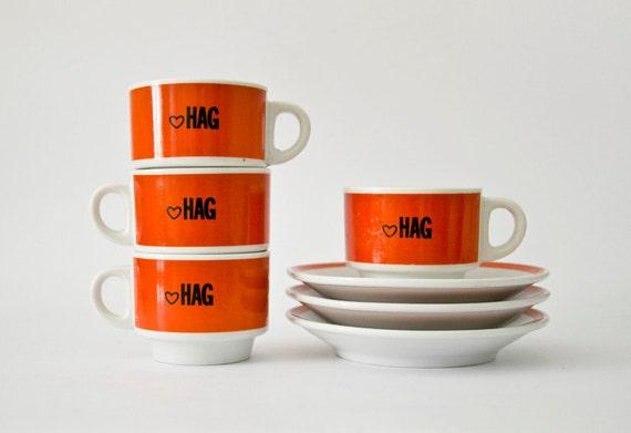 Original HAG coffee cups
