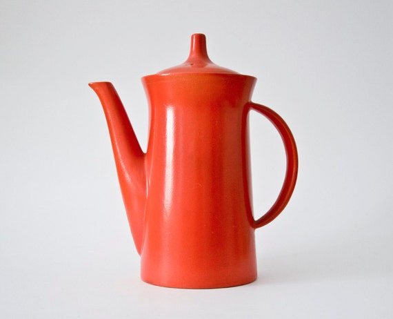Vintage electric tea kettle orange