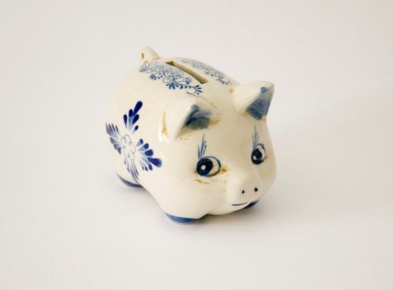 Vintage piggy bank ceramic Holland