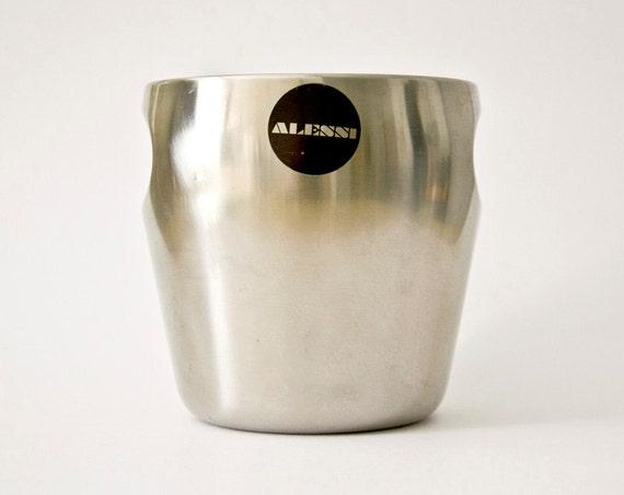 Vintage Fantastic ice bucket ALESSI steel
