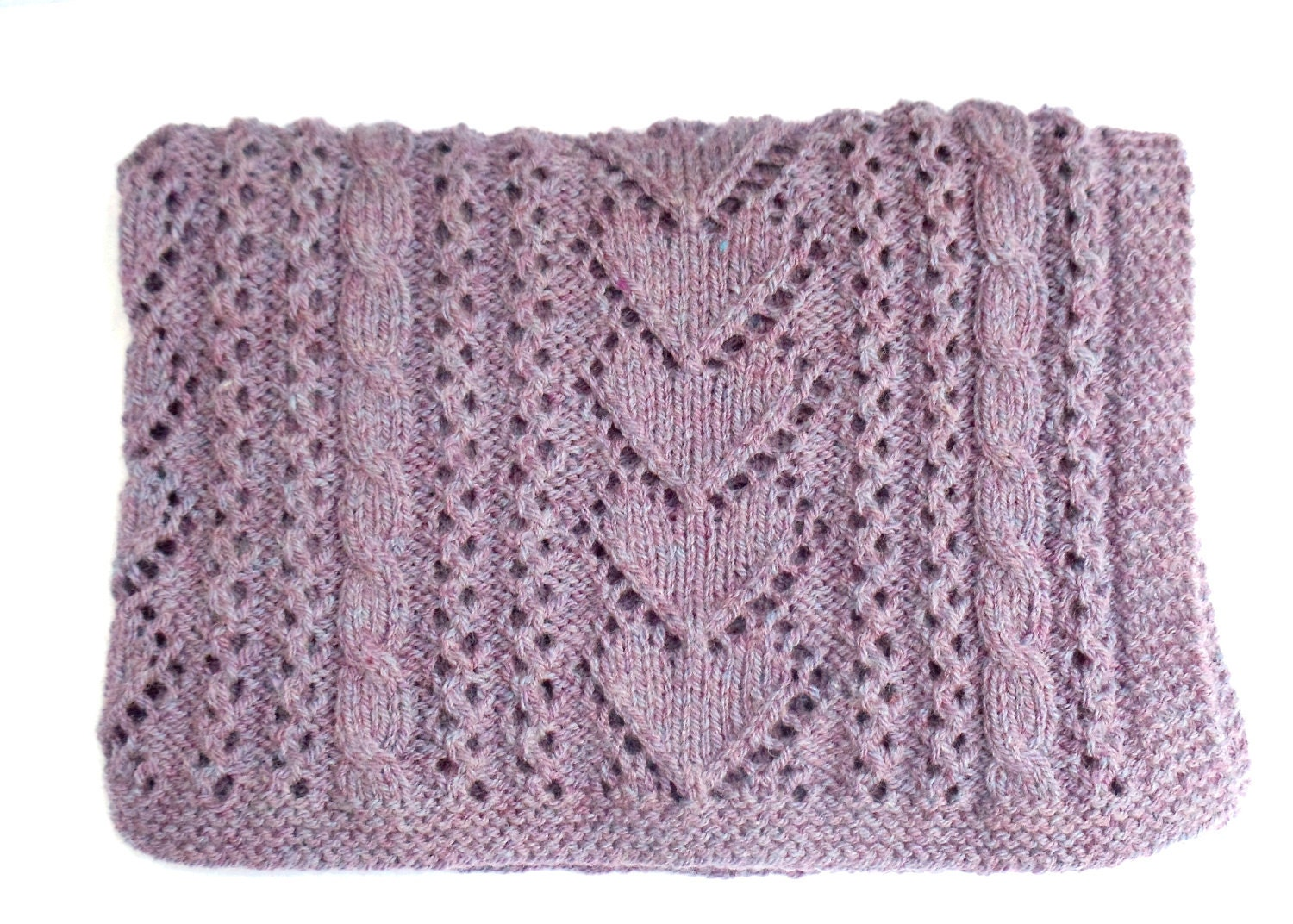 Aran Knitting Patterns For Babies : Aran Knitting Pattern Baby Blanket Instant by TheWoollyKnitter