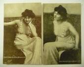 Vintage Postcard 1920s Pinup Girls Unused