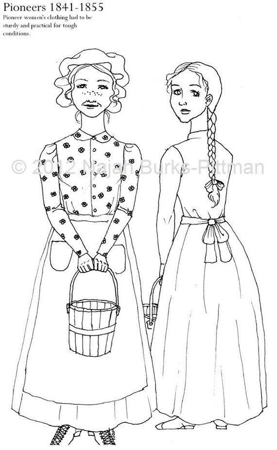 Pioneer family coloring pages bing images for Lds pioneer coloring pages